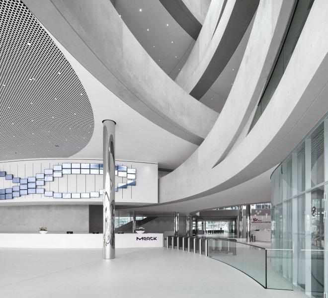 Neubau von Merck Innovation Center - Lobby