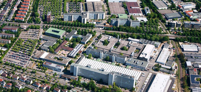 Luftaufnahme von Siemens Industriepark Karlsruhe