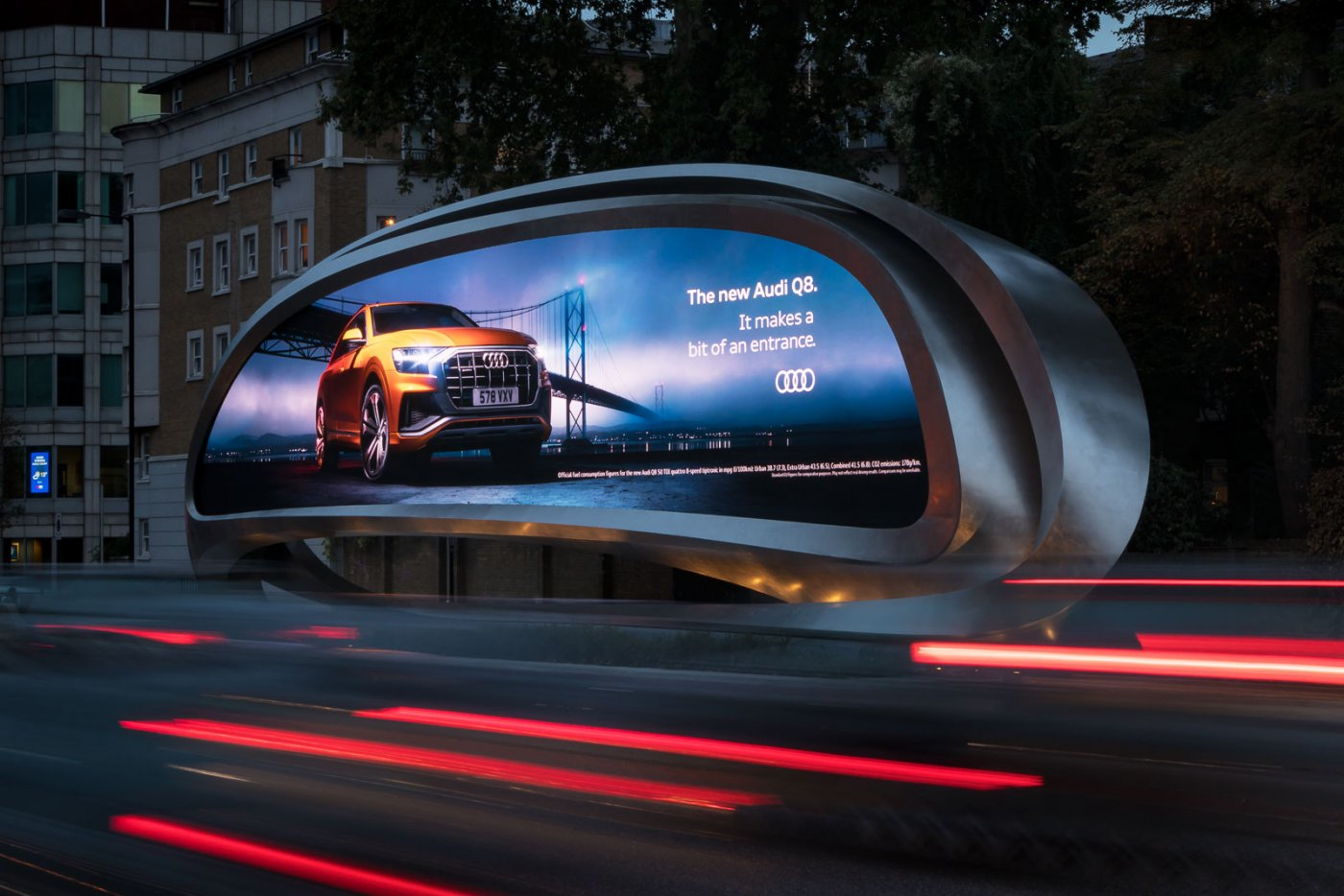 JCDecaux Billboard, London von Zaha Hadid Architects