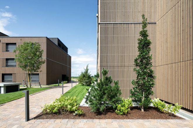 Mitarbeiter-Campus Europa-Park - nachhaltige Fassade