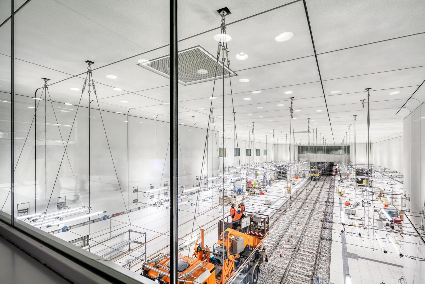 Blick auf die Baustelle im Stadtbahntunnel Karlsruhe